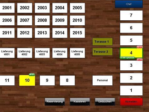Kassensoftware Tischplan