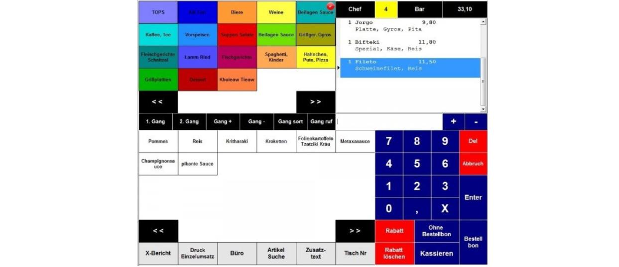 Kassensoftware Gastronomie-Kasse