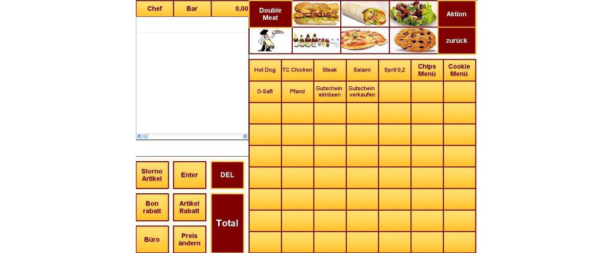 Kassensoftware fastfood